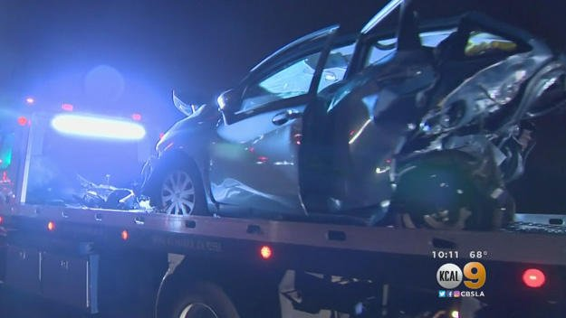 One dead, 7 cars damaged after illegal street race sets off chain collision in California