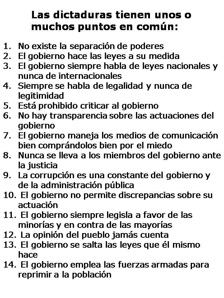 RT @jm_clavero: Check list per reconèixer una dictadura. En coneixeu alguna? https://t.co/dECT0KJboH