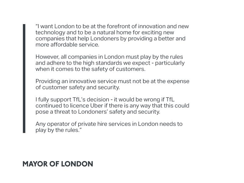 My response to @TfL's licensing decision on Uber: https://t.co/x1s7m11L9h  https://t.co/hpkt1kmgMY https://t.co/zQSb8BsECF