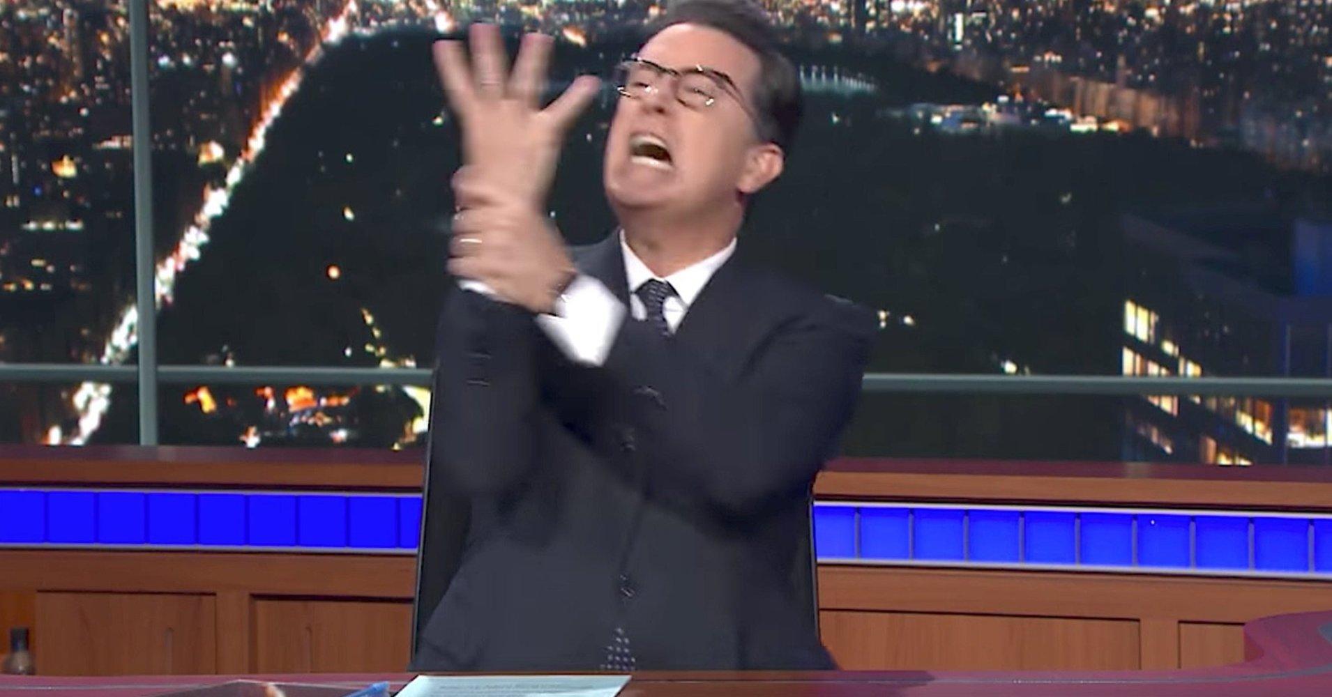 Stephen Colbert releases his hilarious on-camera meltdown video https://t.co/FNJSxtuKLd https://t.co/fElAWlpyHT