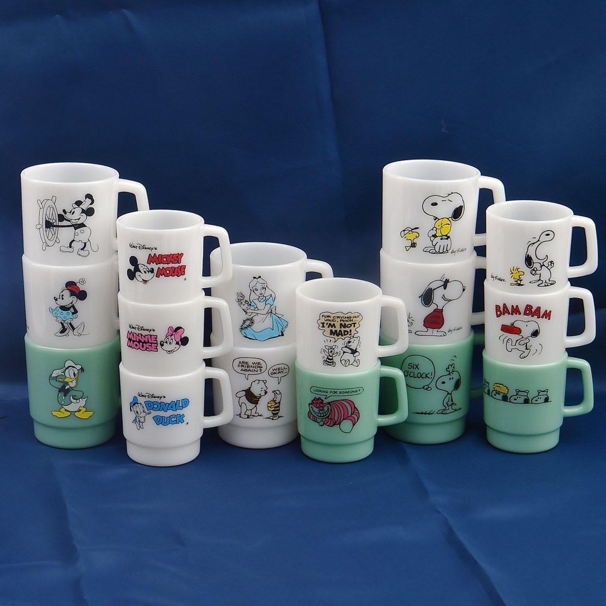 ディズニー・スヌーピーのかわいいコップ型!サンスター文具「ペンスタンド」ミッキー、ミニー、ドナルド、プーさん、アリス、ス