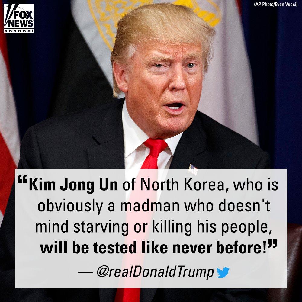 .@POTUS responds after North Korea threatens hydrogen bomb test https://t.co/iw35kxR1TU https://t.co/d42LThb1e3