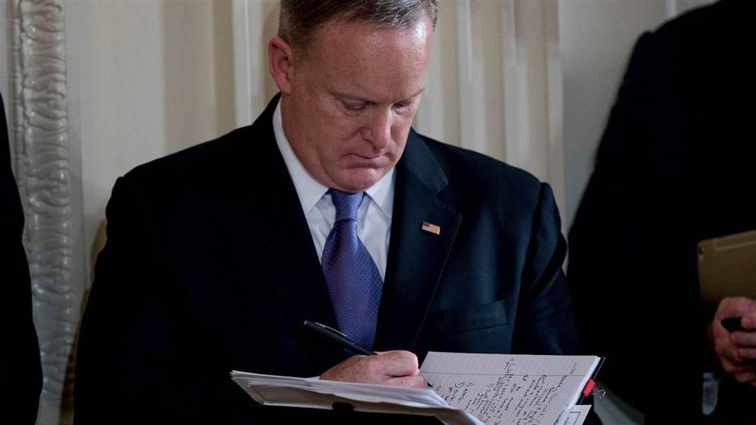Sean Spicer's copious notes could be of interest to Mueller