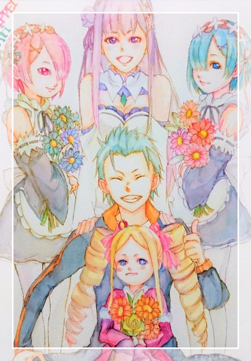 エミリアたん、お誕生日おめでとう!!!イラスト yok  #エミリア生誕祭2017#rezero#リゼロ#エミリア