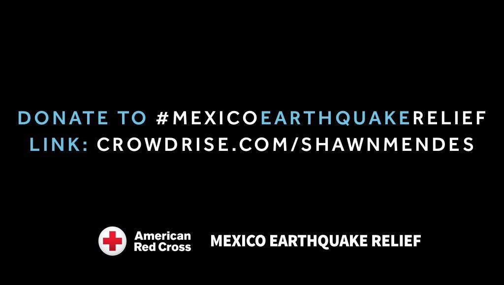 #MexicoEarthquakeRelief Please join @ShawnMendes by donating at https://t.co/vbOPb226aI https://t.co/K5qGshTtaX