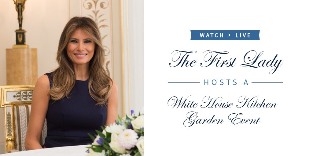 Watch LIVE as @FLOTUS hosts a White House Kitchen Garden event: https://t.co/Qtr3FcPpqU https://t.co/ctrGd9XLqu