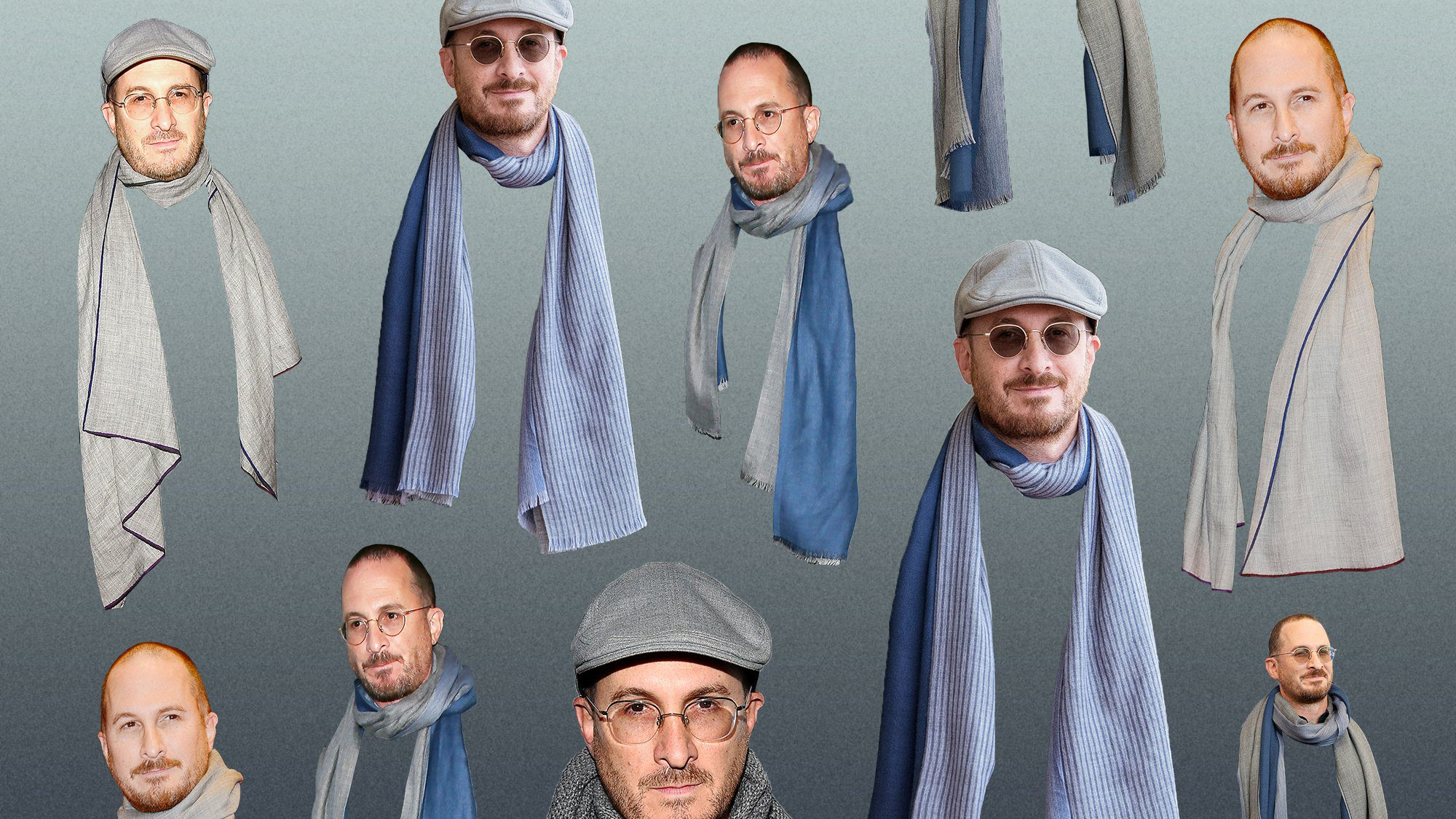 The only thing more unsettling than 'mother!' is Darren Aronofsky in all these scarves https://t.co/lEgTiCJcDJ https://t.co/b3sk3IdgRz
