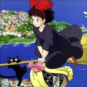 いつか キキのような魔法使いが くることを夢みるウニでした。(笑)#魔女の宅急便#クロネコウニちゃん#ジジ#キキ#黒猫