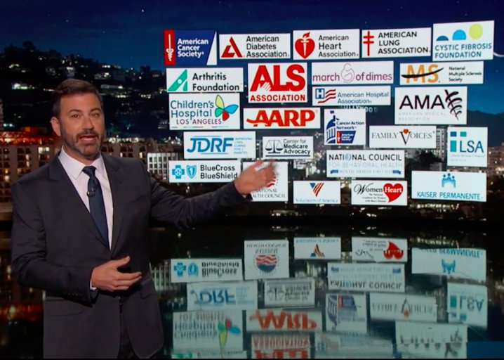 Jimmy Kimmel admits he's no healthcare expert, but healthcare experts agree with him