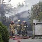 Fire guts garage on Taradale's Howard Road property