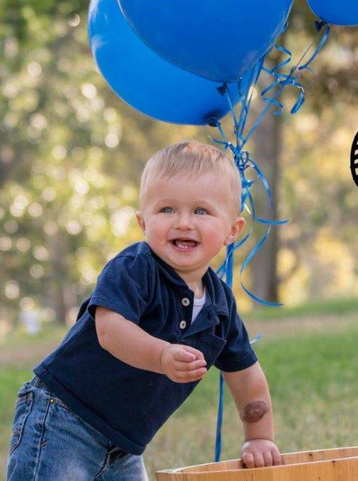 I interrupt today\s negative news to wish my beautiful grandson happy 1st birthday!