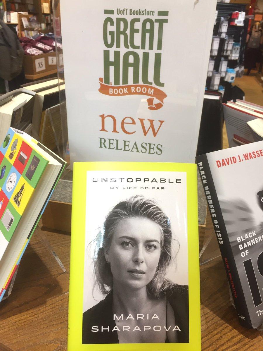 RT @AngadKaurKhalsa: @MariaSharapova Look who I found at the #UofT bookstore! https://t.co/FJG7nPdNb9