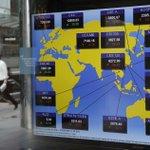 World shares fall on North Korea concerns, China rate cut