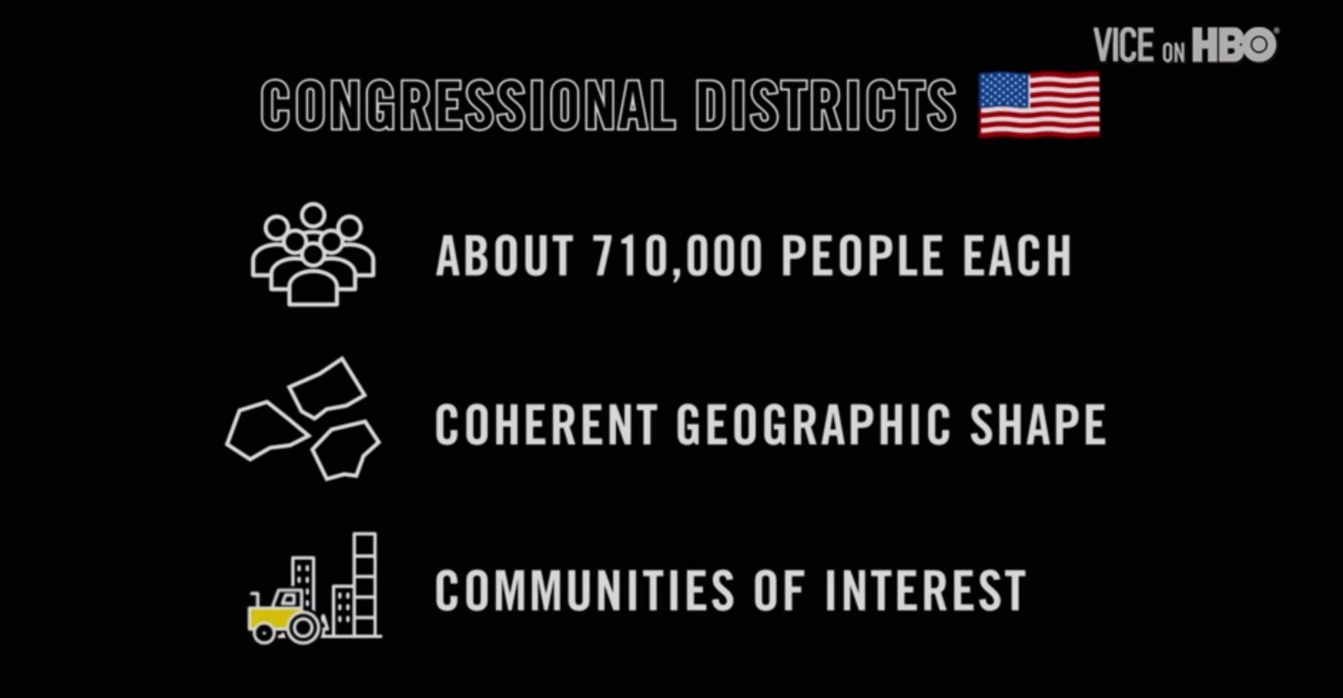 Congressional districts are supposed to be following these rules, but it doesn't always happen #VICEonHBO https://t.co/Xo9Z3OCB11