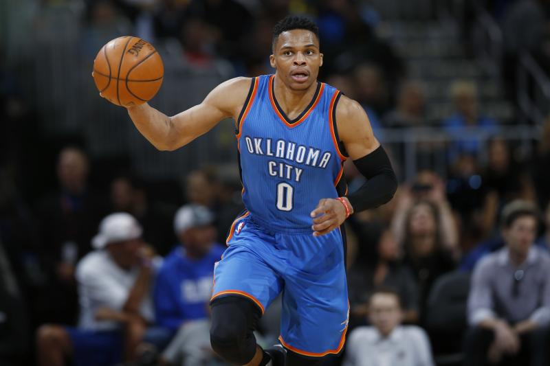 Russell Westbrook (knee) will miss the first few days of training camp...