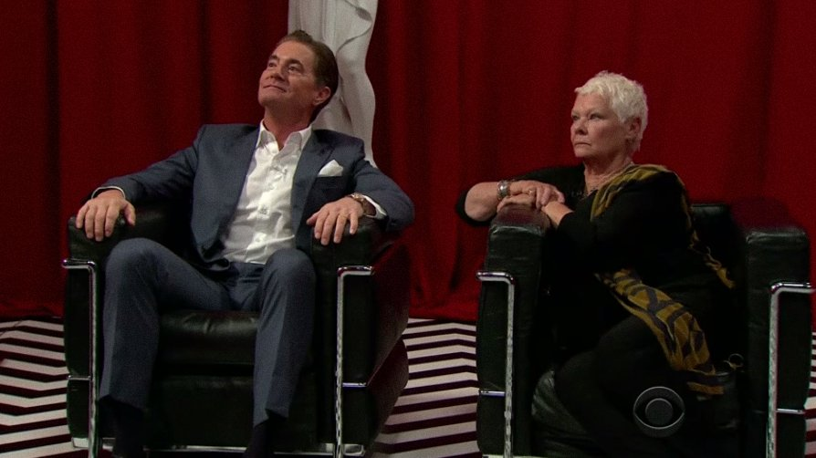 See Kyle MacLachlan and Judi Dench's #TwinPeaks spoof on #LateLateShow https://t.co/0BylggDaKf https://t.co/mc5fhI9Ubo