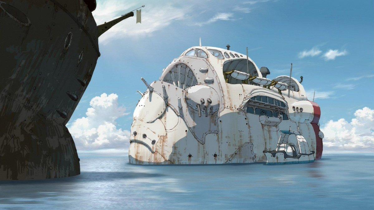 この船から漂う、そこはかとないナウシカ&ラピュタ感#miabyss