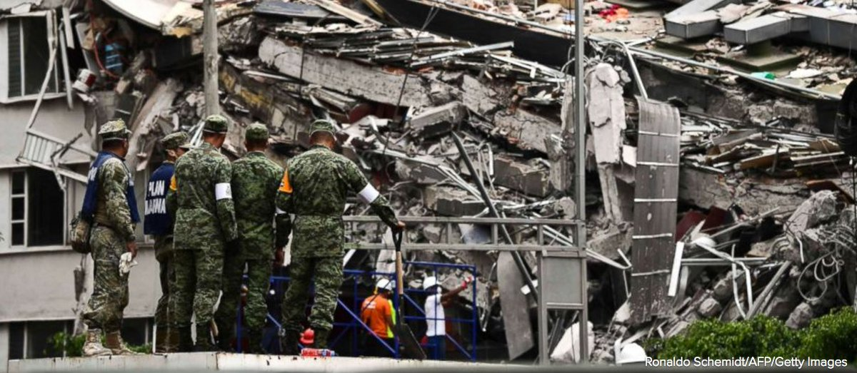 Rescuers continue search for life in Mexico City amid devastation of deadly earthquake.