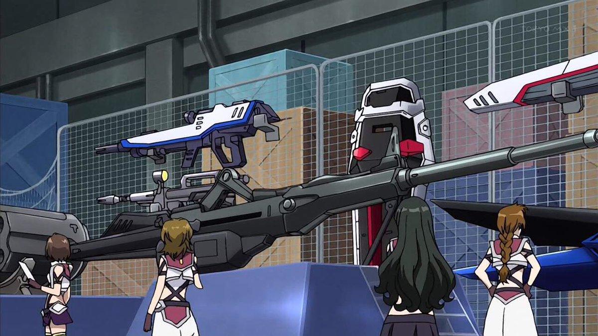 クロスアンジュはパロディでフリーダムとストライクの武装が映り込むのがもう