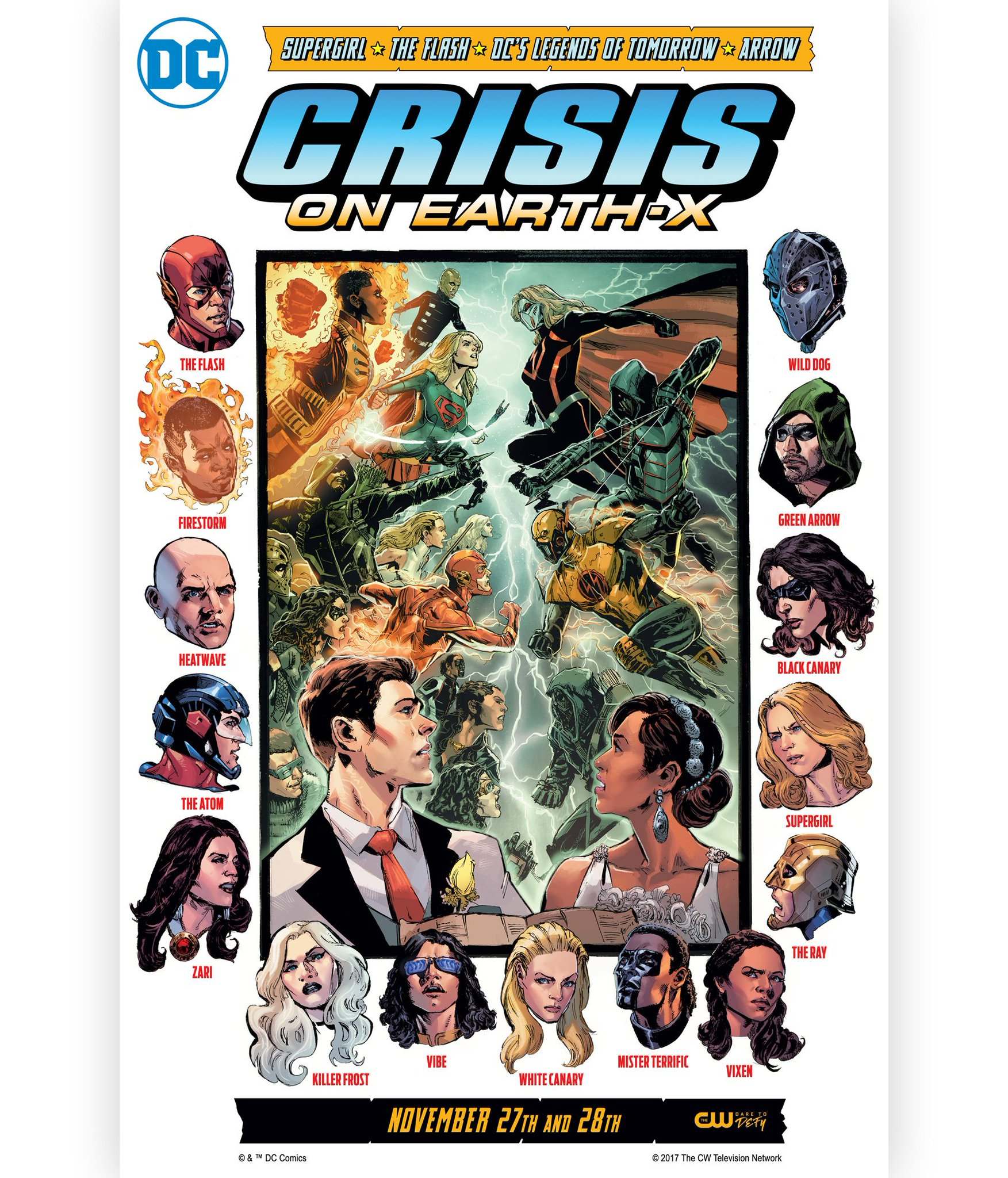 Crisis on Earth-X, the 4-part crossover event, begins November 27 on The CW! https://t.co/kaiRjK51Ki