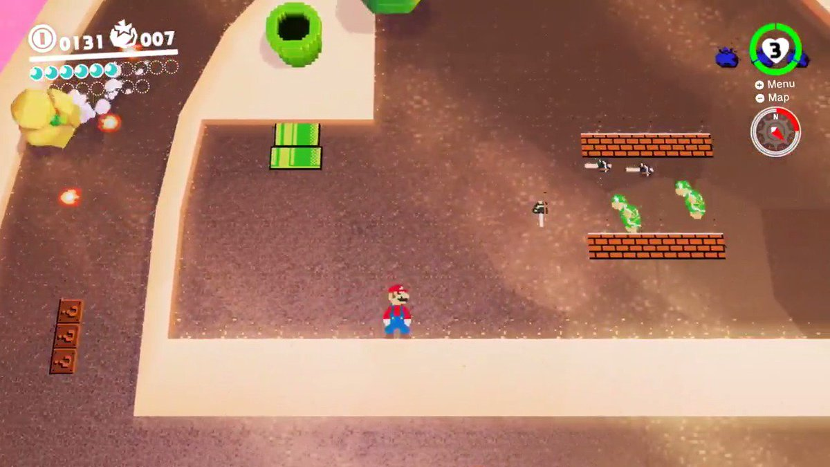 ICYMI There are 8-bit levels in #SuperMarioOdyssey!