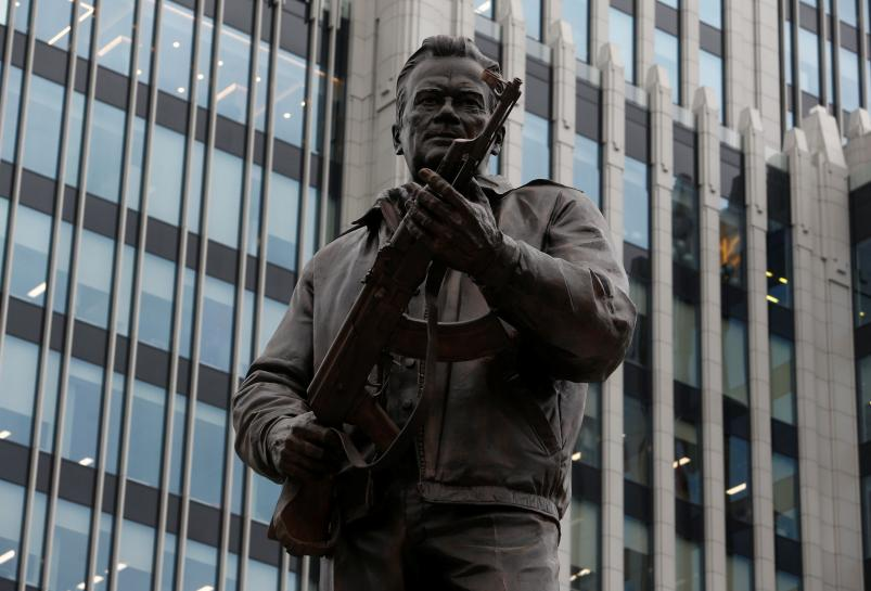 Monument to designer of AK-47 rifle scarred by sculptor's lapse https://t.co/lwbDzo4RHk https://t.co/zf1tIRFCb2