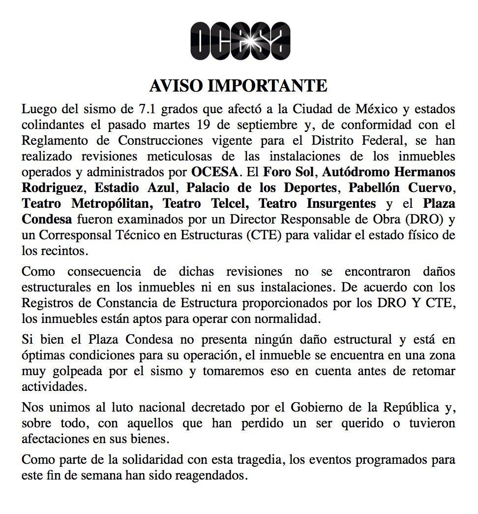 test Twitter Media - Retweeted Ocesa Total (@ocesa_total):  Aviso importante: Inmuebles OCESA https://t.co/AE1bf2F0Ok https://t.co/9EoGGMBrnv