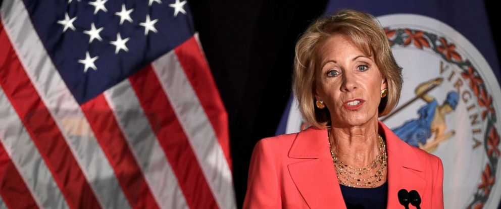 Education Department says it will end Obama-era guidance on campus sexual assaults.