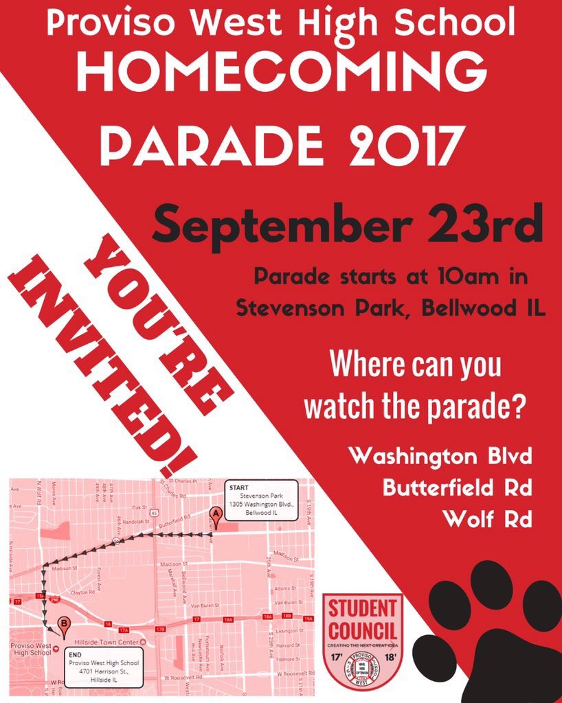 test Twitter Media - Looking to have a little fun around the 7th this weekend?  Come out & enjoy the Proviso West Homecoming Festivities! #ProvisoWest #Panthers https://t.co/ufn4BKEENH