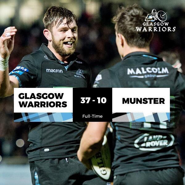 FULL TIME | GLASGOW WARRIORS 37-10 MUNSTER | A classic night at Scotst...