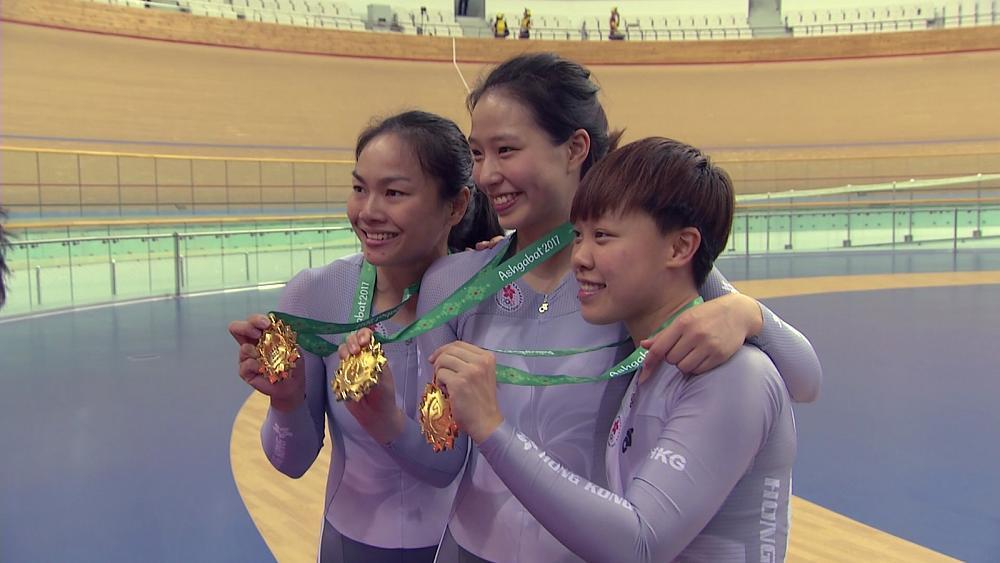 China claims gold in track cycling at Asian Games