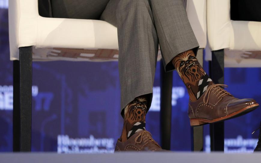 Canada's Trudeau sparks Star Wars/Star Trek spat with Chewbacca socks https://t.co/o7dcZS3IMi https://t.co/Xu7xYSzaC5