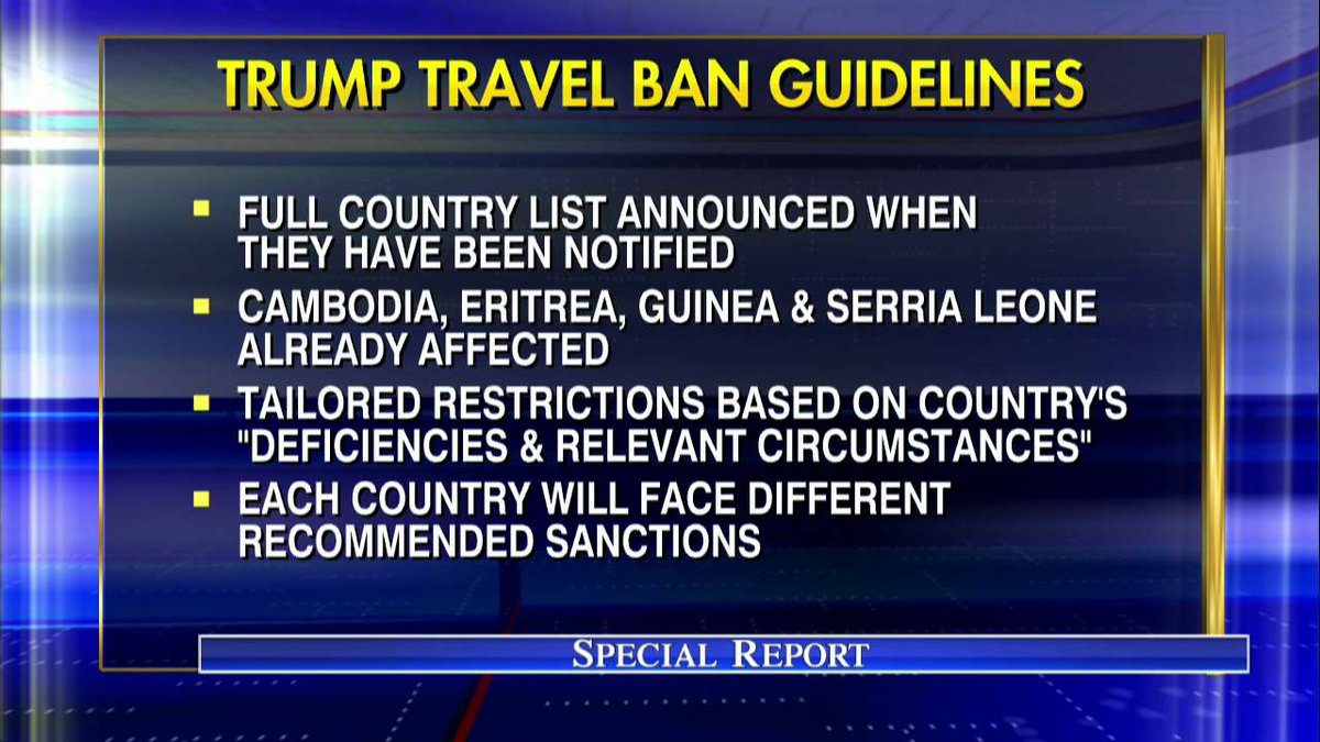 .@POTUS weighs new travel restrictions as ban nears expiration #SpecialReport