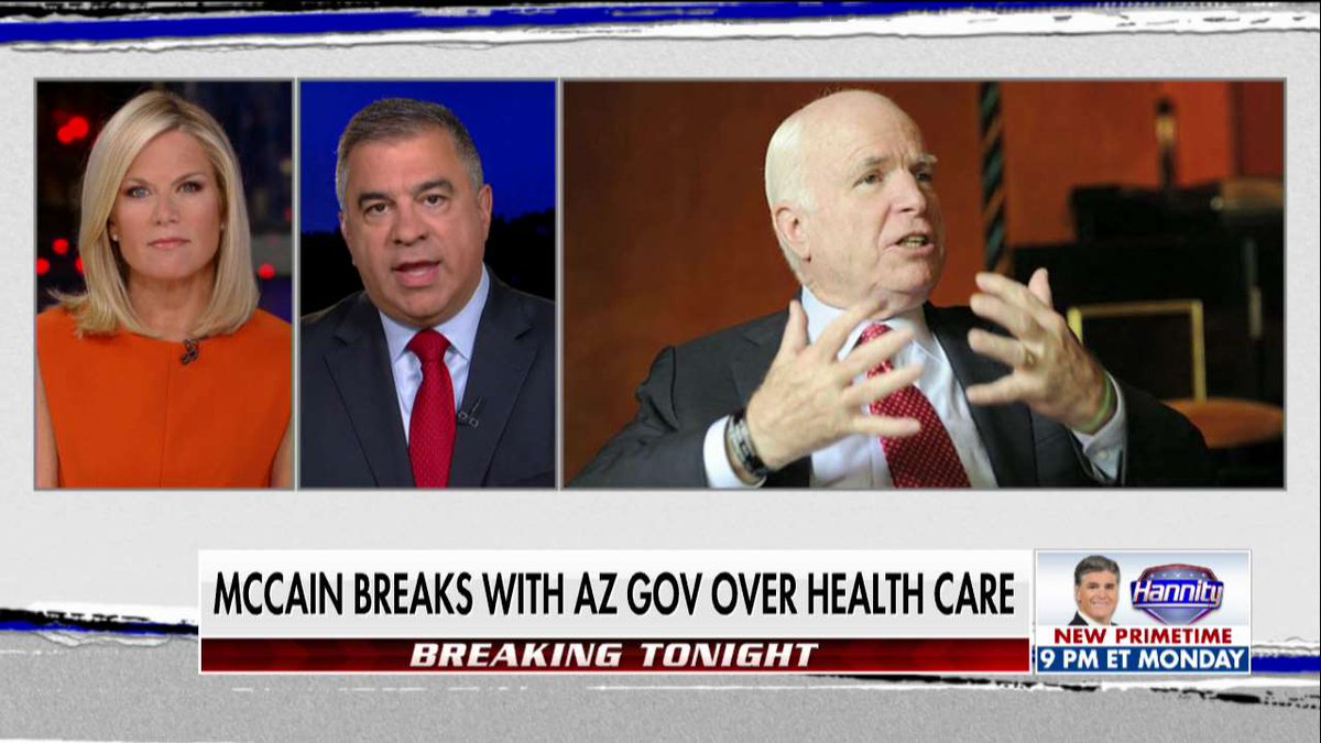 """David Bossie """"There is no reason @SenJohnMcCain is against this bill except to be against @POTUS."""" #TheStory"""