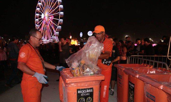 Comlurb recolhe 38,7 toneladas de resíduos no #RockinRio.