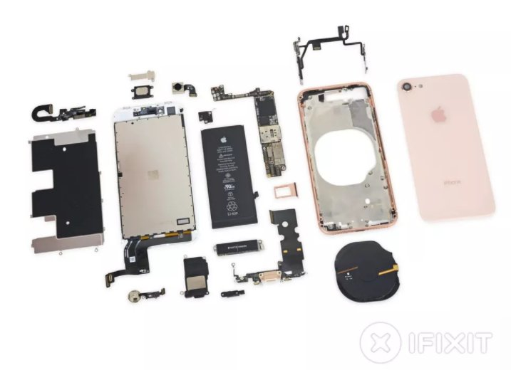 .@iFixit reveals the iPhone 8's inner workings https://t.co/UJq8xU4Qp7 https://t.co/qWcOE6Gw0A