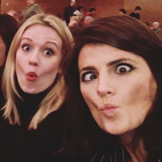 The LADIES of #Absentia! 👁 @CaraTheobold @Stana_Katic #FridayFeeling #weekend