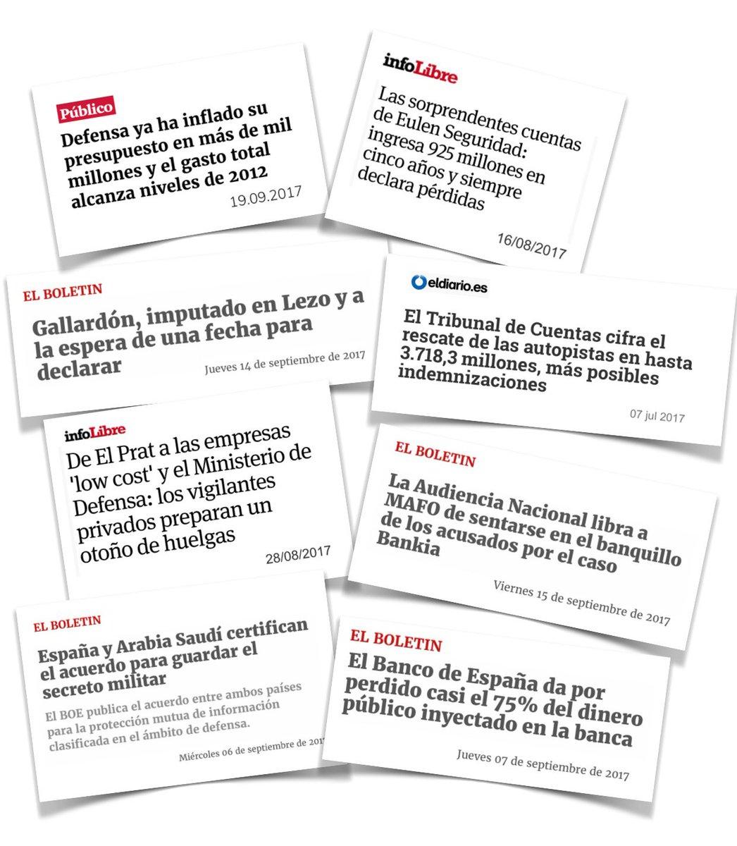 Cositas de las que no se hablan mientras políticos y medios sólo miran a Cataluña.