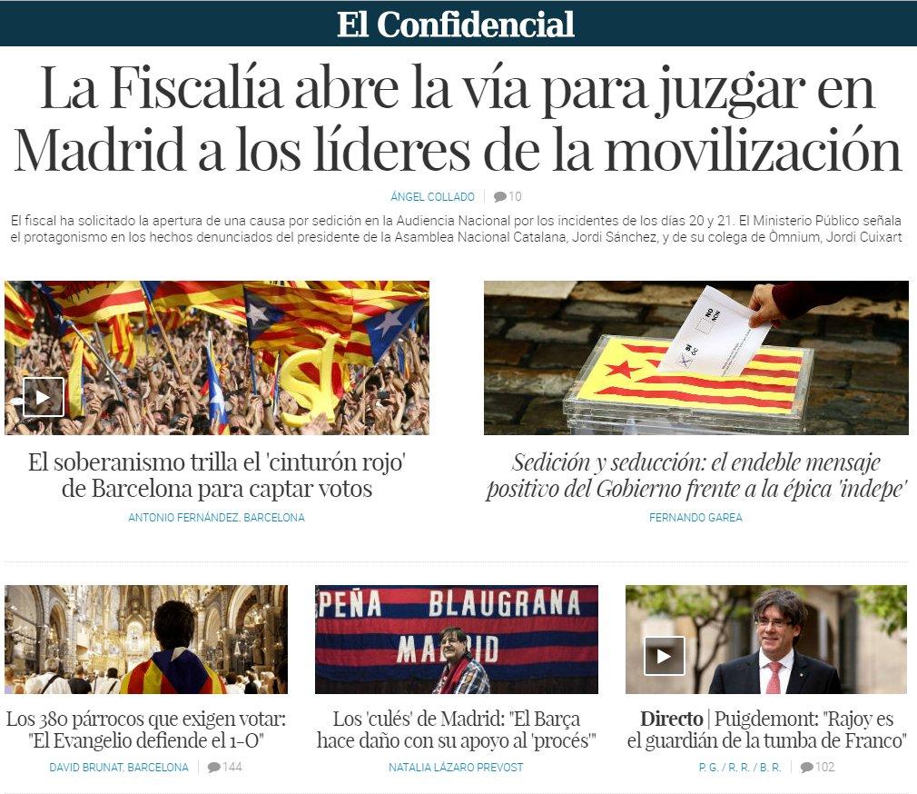 En portada| La Fiscalía abre la vía para juzgar en Madrid a los líderes de la movilización