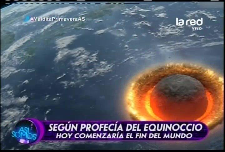 Profecía alude a que un planeta chocará con la Tierra #MalditaPrimaver...