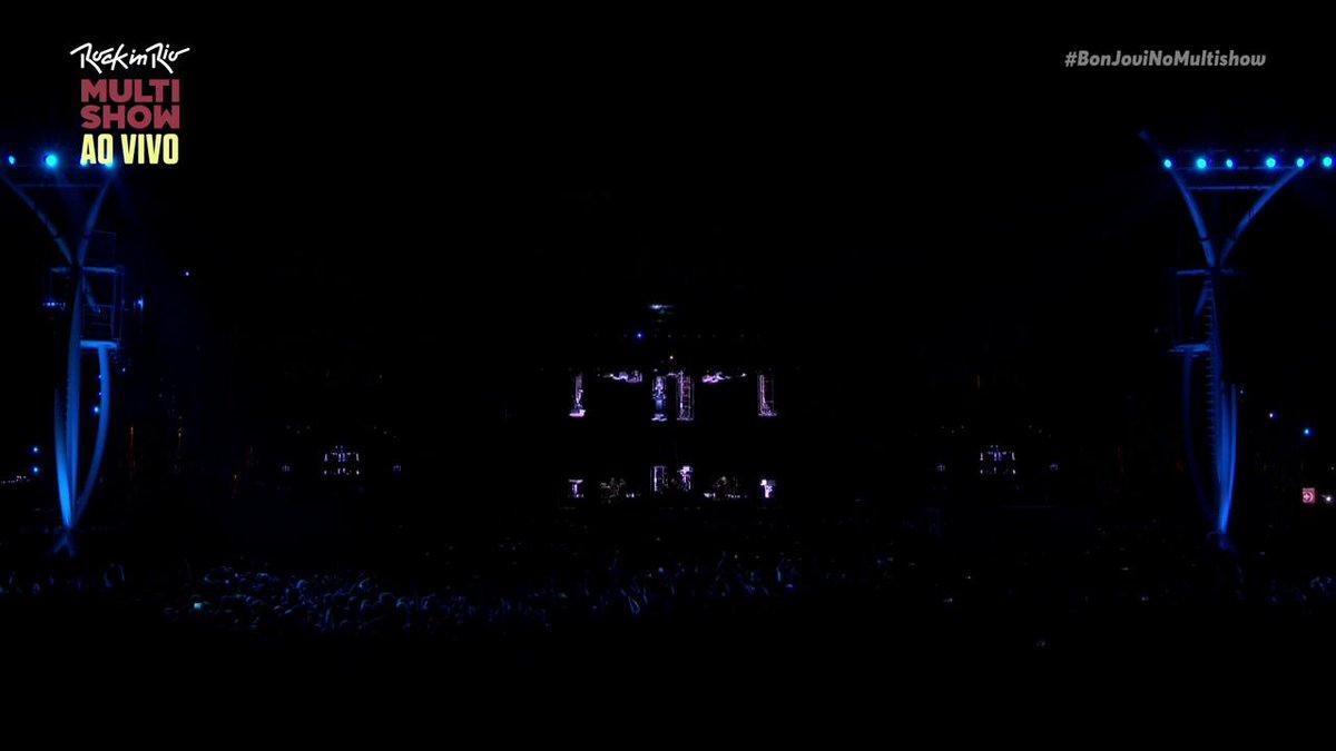 """""""It's My Life"""" é aquela música pra vida toda, né? É AGORA OU NUNCA, MUNDO! ;) @BonJovi #BonJoviNoMultishow"""