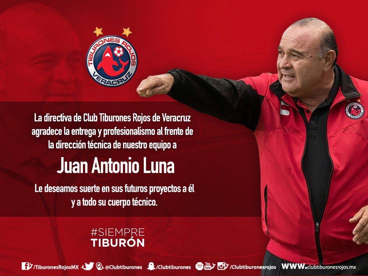 Juan Antonio Luna es el cuarto técnico cesado del Apertura 2017.  📸Ví...