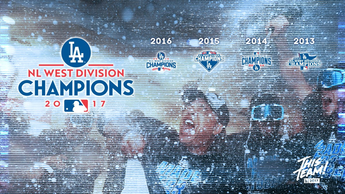 NL West Champs!!#ThisTeam has won their fifth consecutive division title!