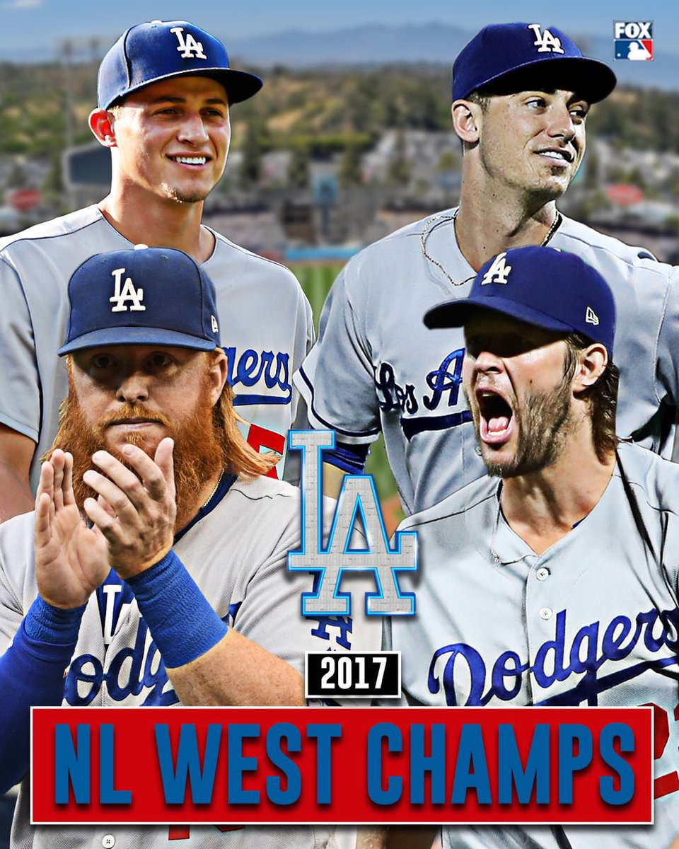 For the 5th straight year, the Dodgers take the NL West.via @MLBONFOX
