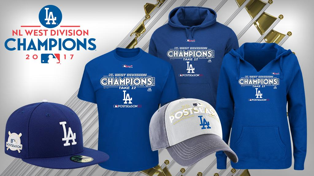 The NL West crown is yours – now look like a champ.Get your @Dodgers gear now