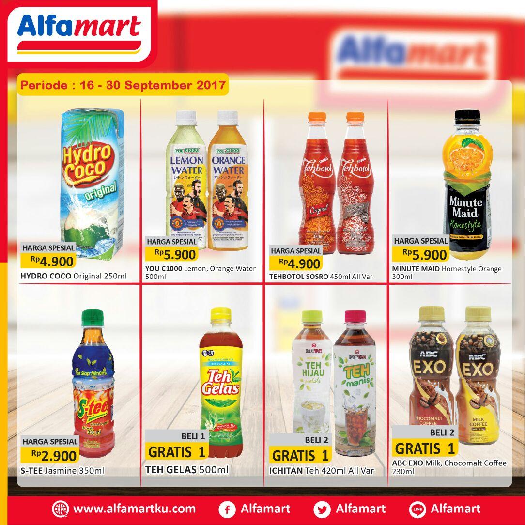 Dapatkan promo minum hemat di Alfamart periode 16-30 September 2017. Info klik https://t.co/Sgo7ZpzhnC https://t.co/5FW3d2CNsk