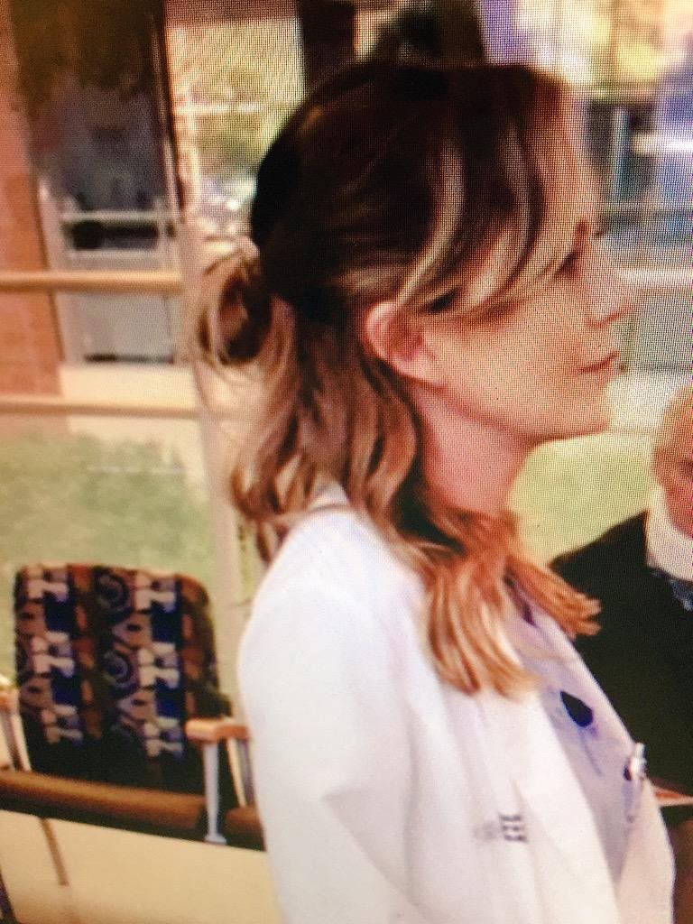 Wait. Are y'all aware that Meredith grey started the half bun!? https://t.co/CCX3gSKnZb