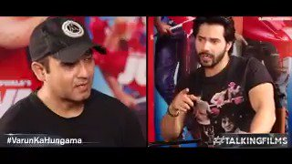 """Whistle in a theatre while watching a @BeingSalmanKhan film?""Wat does @Varun_dvn has 2 say? #VarunKaHungama"