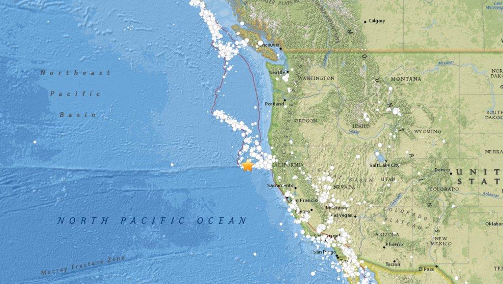 Magnitude 5.7 Earthquake Strikes Off NorCal Coast USGS