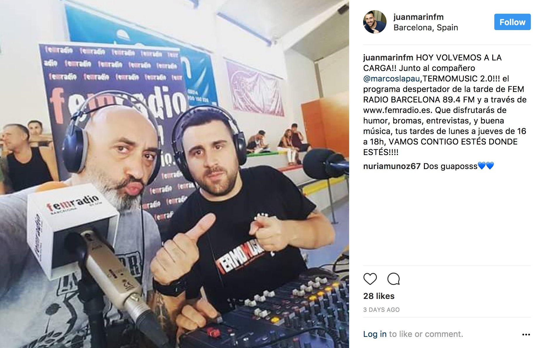 @juanmarinfm Ei Juanito, ja ho saben a @Femradio que ets un feixista que amenaça periodistes quan vas de cacera? https://t.co/uXbwhZF10f